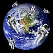Astronauts Earth Space