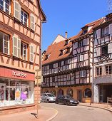 Old Town Street In Colmar