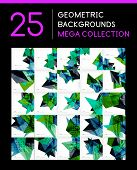 Mega collection of geometric shape abstract backgrounds - 25 layout templates