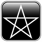 pic of pentacle  - Pentagram icon on white background - JPG