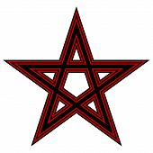 picture of pentagram  - Pentagram icon on white background - JPG