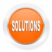 solutions orange computer icon