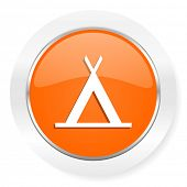 camp orange computer icon