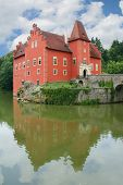 stock photo of bohemia  - Red water chateau Cervena Lhota in Southern Bohemia Czech Republic - JPG