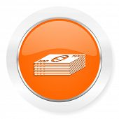 money orange computer icon