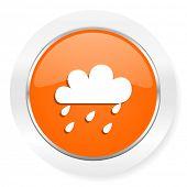 rain orange computer icon