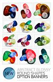 Abstract vector glossy round shape banners - mega collection of vector layouts, design elements