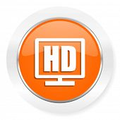 hd display orange computer icon