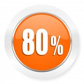 80 percent orange computer icon