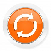 reload orange computer icon