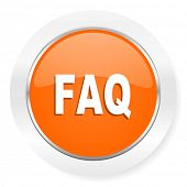 faq orange computer icon