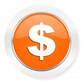 dollar orange computer icon