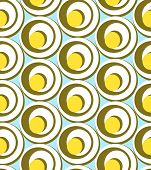Circles And Swirls  Seamless Pattern