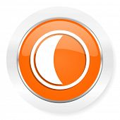moon orange computer icon