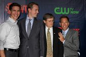 LOS ANGELES - JUL 17:  Brian Dietzen, Sean Murray, David McCallum, Michael Weatherly at the CBS TCA