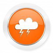 storm orange computer icon