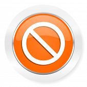 access denied orange computer icon
