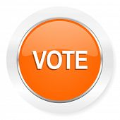 vote orange computer icon