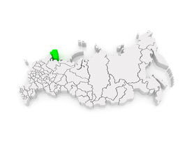 picture of murmansk  - Map of the Russian Federation - JPG