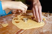Christmas Baking - Shaping Dough With Forms