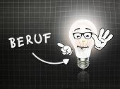 Beruf Bulb Lamp Energy Light Blackboard