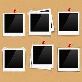 Photo Frames On Bulletin Board