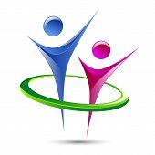 Abstract human figures Vector logo template
