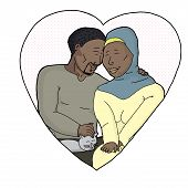 Isolated Heart With Couple
