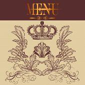 Menu Design In Royal Style