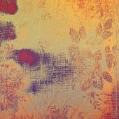 Old grunge background with delicate abstract texture and different color patterns: purple (violet); orange; brown; yellow