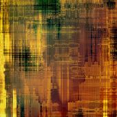 Textured old pattern as background. With different color patterns: yellow; brown; green; orange; beige