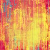 Old-style background, aging texture. With different color patterns: yellow; red; orange; blue; pink