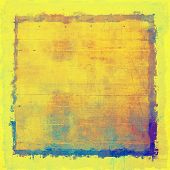 Old grunge textured background. With different color patterns: yellow; purple (violet); orange; blue; beige