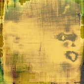 Retro background with old grunge texture. With different color patterns: yellow; gray; brown; green