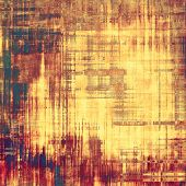 Grunge texture with decorative elements and different color patterns: purple (violet); orange; brown; yellow