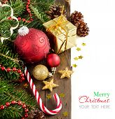 Festive Decorations With  Baubles And Candy Cane