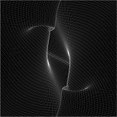 Abstract Curved Lines Background Vector