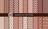 20 retro seamless patterns.