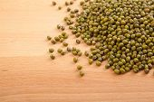 Mung Beans On Wood Table