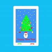 Happy New Year - Congratulations On Your Mobile Phone.