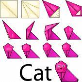 Illustrator of cat origami