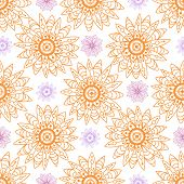 seamless flowers vector pattern from abstract flowers.