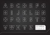 Stencil Vector Font Set
