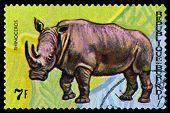 Vintage  Postage Stamp. Animals Burundi,  Rhinoseros.