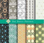 Set Retro Pattern
