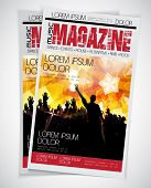 Cover Music Magazine. Easy to editable vector