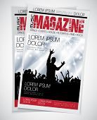 Cover Music Magazine. Vector illustration