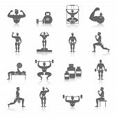 Bodybuilding Icons Set