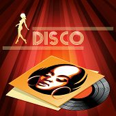 Disco club poster