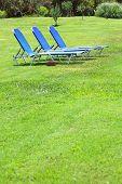 three sun lounger